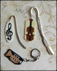 #beaded #bookmark #beadedbookmark #unique #handmade #gift #music #trebleclef #handmadegifts