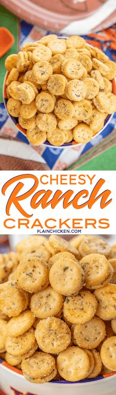 Cheesy Ranch Crackers – ritz bits tossed in a quick ranch mixture. Great for parties and in soups… Tailgating Recipes, Tailgate Food, Appetizer Recipes, Snack Recipes, Cooking Recipes, Ranch Crackers, Sandwiches, Ritz Bits, Sweet Potato Recipes