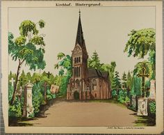Kirchhof. Hintergrund. No. 8671.