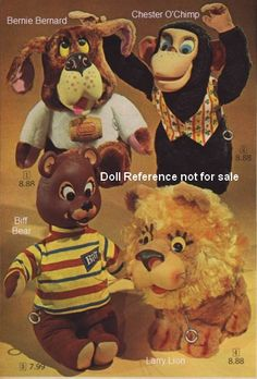 Awww what a blast from the past.  My brother had Larry Lion and Chester Cheetah.