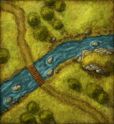 River Crossing Encounter Map from Cartographers' Guild