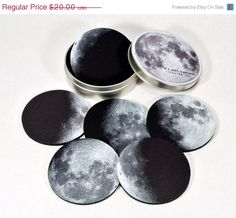 Big Old SALE Moon Phases coaster set Its just a by CommonRebels, $16.00
