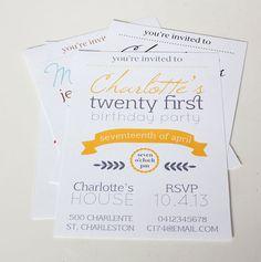 PRINTABLE Invitation for Wedding or Birthday
