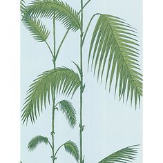 Buy Cole & Son Palm Leaves Wallpaper, Blue / Green, from our Wallpaper range at John Lewis & Partners. Palm Leaf Wallpaper, Wall Wallpaper, Wallpaper Patterns, Bathroom Wallpaper, Cole And Son, Menlo Park, Shabby Chic Cottage, Inspiration Wall, Texture Art