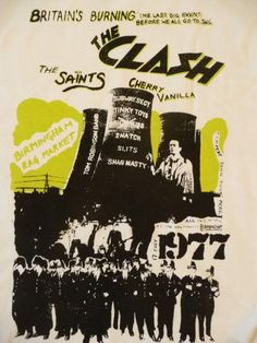 The Clash Birmingham Rag Market Poster Tour Posters, Band Posters, Music Posters, Concert Rock, Punk Poster, Gig Poster, Les Aliens, Music Flyer, The Clash