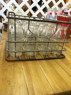 Milk Crate with 24 Bottles for sale