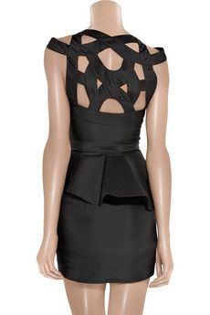 rachel gilbert cutout silk dress