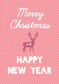 "Kerstkaart pastel Merry Christmas and Happy New Year Kerstkaart pastel met de quote ""Merry Christmas and happy new year"" van Studio Inktvis. Met onze pastelkleurige kerstkaart valt u pas echt op. [ssb..."
