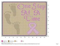 ONE STEP AT A TIME by TRICIA -- WALL HANGING *BREAST CANCER AWARENESS *