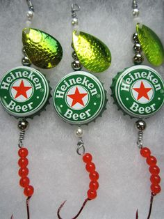 Fishing Lures Gifts for Men  Heineken Beer by AudaciousApproach, $15.00