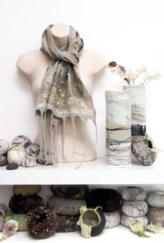 Luxury hand crafted nuno felt scarves and wraps - felt workshops - Products by Lindsey Tyson