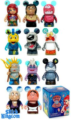 First Look at The Little Mermaid Vinylmation Series. The characters featured in this set include  Ariel, Prince Eric, Sebastian, Flounder, Max, Scuttle, King Triton,  Ursula, Grut, Grimsby and Carlotta.
