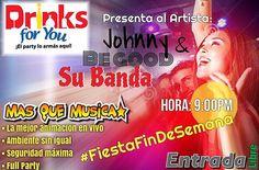 Uno dos tres probando...  EN BREVES MOMENTOS COMENZAMOS ACÁ EN DRIKNS.!!!    SOLO PARA PERSONAS DE BUEN GUSTO MUSICAL EN VIVO- Johnny Be Good & su Banda # FullParty #Merengue #Bachata #Salsa #Ballenato  HOY en DRINKS FOR YOU
