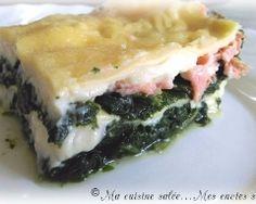Lasagnes au saumon fumé et aux épinards