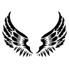 Give your walls the Angelic touch with our large reusable Angel Wings wall decor stencil. Wing Tattoo Men, Wing Tattoo Designs, Design Tattoos, Stencil Art, Stencils, Body Art Tattoos, Tribal Tattoos, Tribal Wings, Tribal Armband