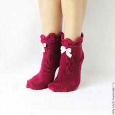59 Ideas For Knitting Ideas Socks Christmas Gifts Knitting Socks, Baby Knitting, Knit Socks, Fishnet Socks, Cozy Socks, Colorful Socks, New Year Gifts, Christmas Knitting, Burgundy Color