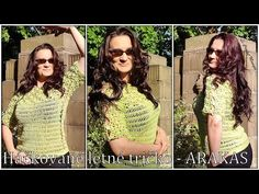 Háčkované letné tričko - ARAKAS/Crocheted Summer tee - ARAKAS (english subtitles) - YouTube Capri Pants, Crochet Patterns, English, Youtube, Summer, Fashion, Crochet Blouse, Moda, Capri Trousers