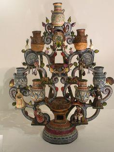 Tree of life- Alfonso Castillo Orta + Martha Hernandez de Castillo -Museo de Arte Popular-Mexico City