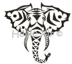 Amazing Black Tribal Elephant Head Tattoo Stencil By Alphir Tribal Elephant Drawing, Elephant Head Tattoo, Tribal Art, Elephant Logo, Head Tattoos, Arrow Tattoos, Body Art Tattoos, Tribal Animals, African Animals
