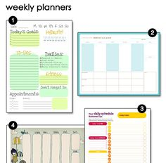 @Renee LaBarbera - by Money Saving Mom - FREE printable weekly planners!