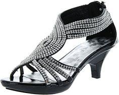 637eb7ac5b0 JJF Shoes Angel37 Strappy Rhinestone Dress Sandal Low Heel Shoes Check more  at http