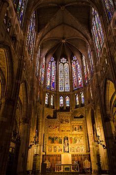 León's gothic Cathedral, Spain    Hopefully you walk through Leon @Paige Hereford Hereford Anderson