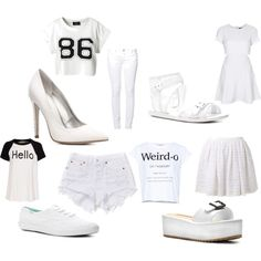 """White Out"" by thefashionpoet on Polyvore #dswshoehookup #pintowin"