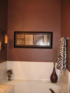 Master bath on pinterest towels safari bathroom and towel racks