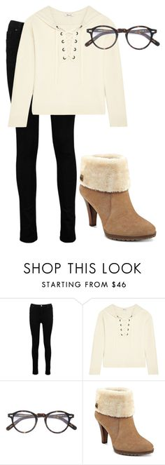 """Untitled #345"" by vickie-lyons-hall ❤ liked on Polyvore featuring Boohoo, Madewell, Moscot and Anne Klein"