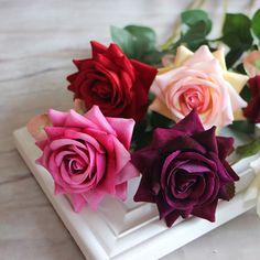 Primavera de veludo rosa Artificial falsificação arranjo de flores dos namorados vermelho quarto buquê do casamento do Hydrangea decoração