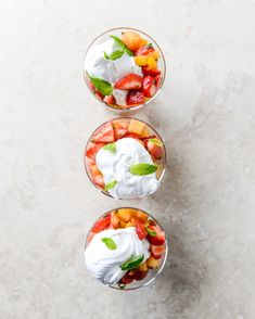 Strawberry Mango Mint Julep Fruit Salad with Whipped Marshmallow for Kentucky Derby Day!