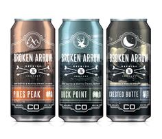 Broken Arrow Beer branding & packaging by Sam Faulkner branding
