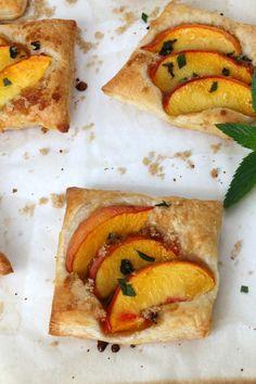 Mint Peach Tarts - The Bitter Side of Sweet