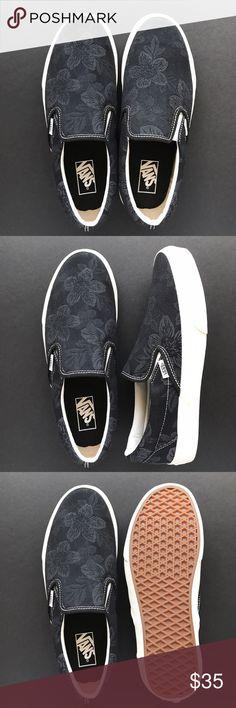 Vans Slip-on Black Hawaiian Floral Black Hawaiian floral textile Vans Slip-on. Box not included. Vans Shoes Sneakers