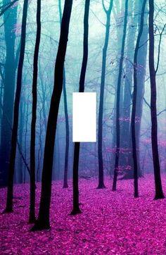 Purple Leaves forest landscape light switch by SindyOriginalDecor, $6.80