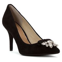"""🆕LISTING Michael Kors Felicity Black Pump #62 Redefine your style in the Felicity pump from Michael Kors. bow and faux embellishments, rubber outsole, wrapped heel, approximate 3 3/4"""" heel height, cushioned foot bed, leather lining, new in box 33-42-16 MICHAEL Michael Kors Shoes Heels"""