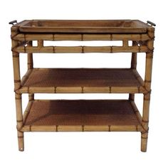Chinoiserie Bamboo Bar Cart  on Chairish.com