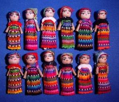 Possible wedding favor. Worry Dolls, Doll Crafts, Wedding Favors, Wedding Bells, Doll Toys, American Art, Baby Items, No Worries, Projects To Try