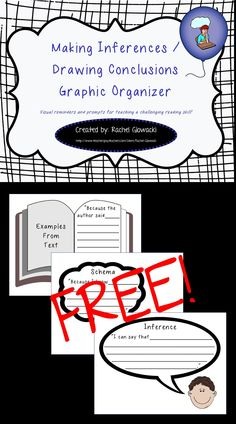 Making Inferences/Drawing Conclusions Graphic Organizer - FREE item from my TPT store, enjoy!!!