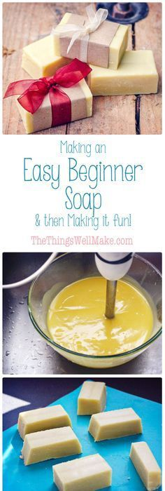 Making soap isn't difficult. Today I'm sharing my quick and easy, basic begi… Making soap isn't difficult. Today I'm sharing my quick and easy, basic beginner soap recipe with fun ideas for personalizing it by adding exfoliants, essential oils, etc. Homemade Soap Recipes, Homemade Gifts, Homemade Butter, Homemade Cards, Diy Masque, Lotion Bars, Diy Lotion, Homemade Beauty Products, Home Made Soap