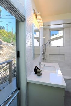 Mid Century Modern Remodel Bath - contemporary - bathroom - los angeles - Hart Wright Architects, AIA