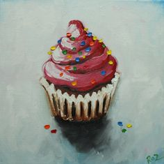 painting of cupcaakes - Google Search