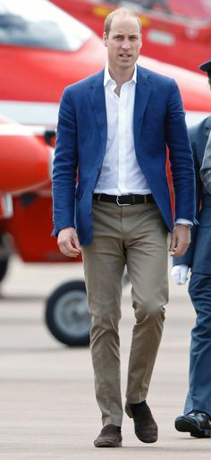 The Duke of Cambridge had a very good week in the style department. Here he is doing almost-off-duty summer style with just the right mix of modern and traditional influences. Everything fits so well that it looks like it was made just for him–which, considering who he is, might just be the case.