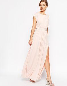Image 1 ofASOS Embellished Waist Maxi Dress