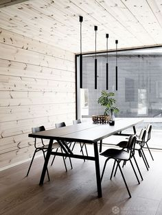 GET TO KNOW EVERYTHING ABOUT THIS MINIMALIST DINING ROOM DECOR! Dining Room Design, Dining Room Furniture, Dining Rooms, Rooms Home Decor, Room Decor, Minimalist Dining Room, Modern Minimalist, Dining Room Lighting, Decoration