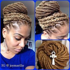 Do you have locs? Try @joymarilie's updo we'd love to see the results. Hashtag #curlytreats. #locs
