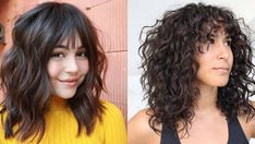 20 Stunning Layered Haircuts With Bangs | StylesRant Parted Bangs, Wispy Bangs, Long Bangs, Thin Curly Hair, Curly Hair With Bangs, Curly Hair Styles, Layered Haircuts With Bangs, Cute Haircuts, Short Bob Styles