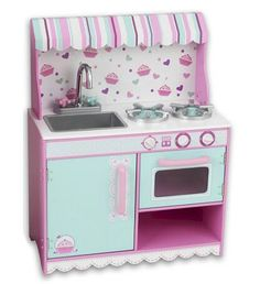 I Love the cupcake theme.  The awning is a SUPER fun idea for over her kitchen.