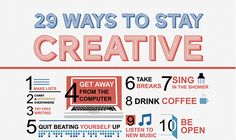 29 Ways to Stay Creative from lifehack.com