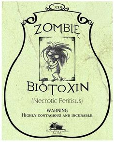 Zombie-BioToxin-Label (a_granger) Tags: autumn halloween book magick label magic spell haunted labels apothecary cauldron charms potions spells potion cackling halloweendecorations curses spellbook hexes apothecarylabels potionlabels Halloween Apothecary Labels, Halloween Bottle Labels, Halloween Spells, Halloween Items, Halloween Pictures, Halloween Projects, Halloween Party Decor, Spooky Halloween, Holidays Halloween